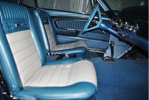 ford mustang coupe 1964 azul acero $489,000