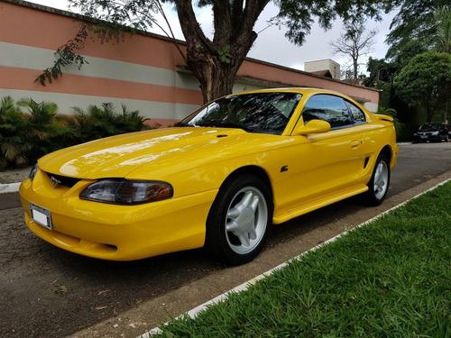 ford mustang gt v8 5.0 1995 mecânico amarelo original