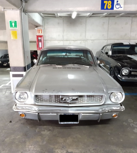 ford mustang hard top 1966 gris