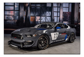 Race Mustang 2017 Ford Car Enmarcado Cuadro 45x30cm kuOiXZPT