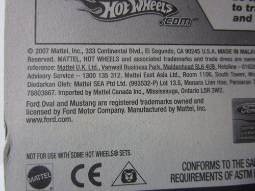 ford mustang treasure hunts th coleccion hot wheels usa 2007