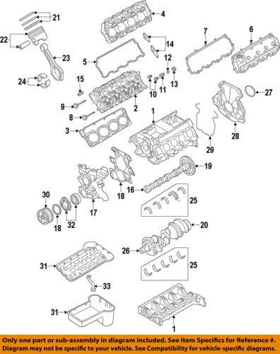 ford oem 08 10 f 350 super duty engine piston 8c3z6108eb  engine piston diagram #11