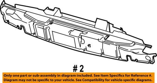ford oem e-350 super duty radiator core soporte-deflector s