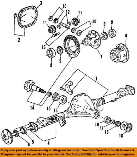 Ford Oem Trasero Diferencial Trasero Pin Teniendo Doaz4