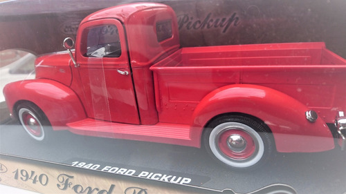 ford pick up 1940 esc 1 18 roja die cast premium