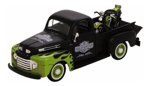 ford pick-up 1948 harley davidson y fl panhead, maisto 1/24