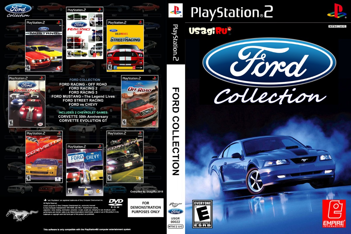 Ford Racing Compilation 8 In 1 - Playstation 2 Dvd