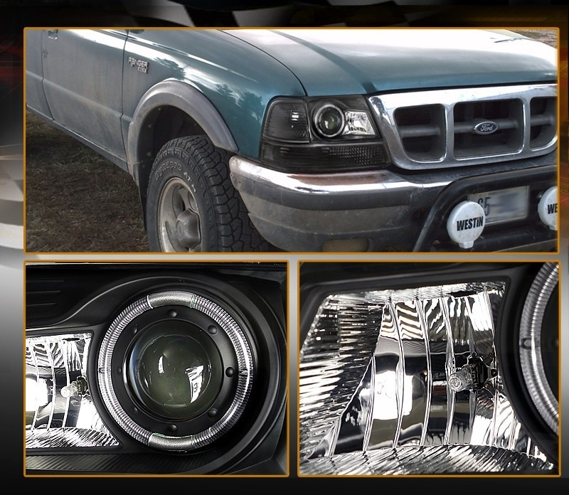 Ford Ranger 1998 - 2000 Headlight Game With Angel's Eye-2562