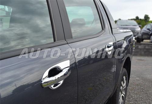 ford ranger 2013 2014 2015 al 2018 uñeros cromados 4 puertas