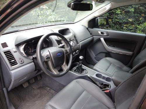 ford ranger 2.5 limited cab. dupla 2015 preta top de linha !