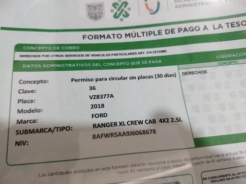 ford ranger 2.5 xlt cabina doble 4x2 mt 2018