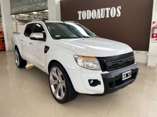 ford ranger 3.2 cd 4x4 limited año 2013 color blanca