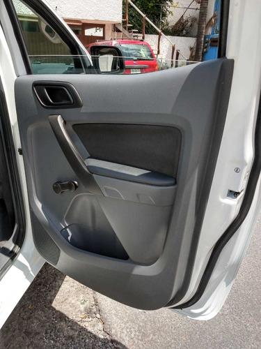ford ranger crew cab xl 2.2 lts, modelo 2017, blanca