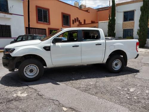 ford ranger crew cab xl 2.2 lts, modelo 2017, blanca, diesel