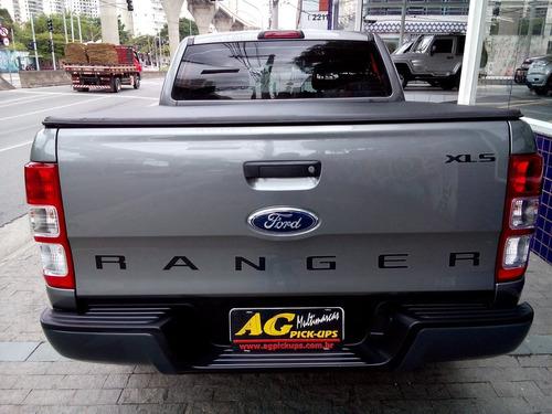 ford ranger dupla xls 2016 cinza 3.2 die automática top
