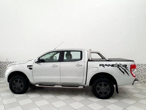 ford ranger xlt 3.2 4x4 diesel 2013 prata automático
