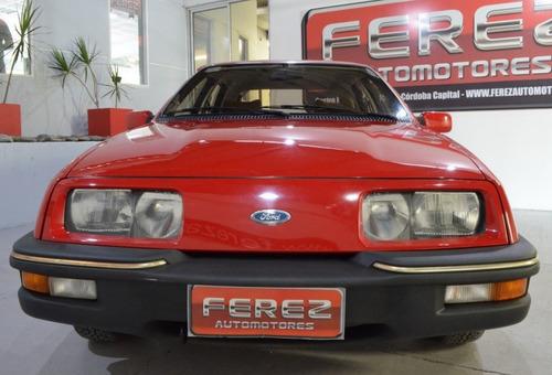 ford sierra ghia/84 rojo 1987 de coleccion nafta!!