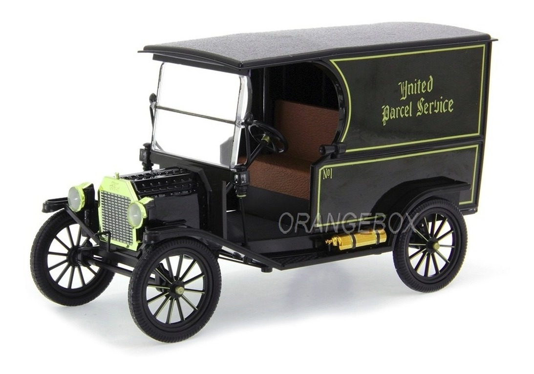 Ford T 1913 Ups Old No 1 Package Car Norscot 1:18 Preto