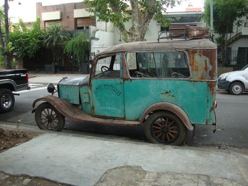 ford t motor 1919 furgon carrozado artesanalmente