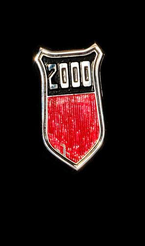 ford taunus insignia placa 2000 modelo 75-80