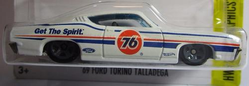ford torino talladega escala 1/64 coleccion hot wheels