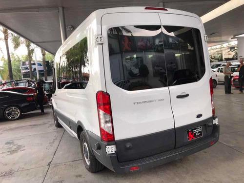 ford transit 3.7 gasolina bus 15 pasajeros mt 2015