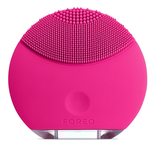 foreo luna mini silicone face brush with facial cleansing