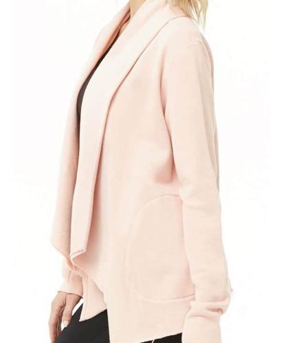 forever 21 cárdigan deportivo rosa claro mujer talla sudade