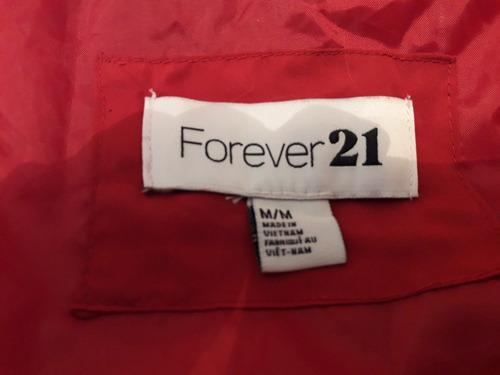 forever 21 chaleco inflado rojo como nuevo talle m l divino
