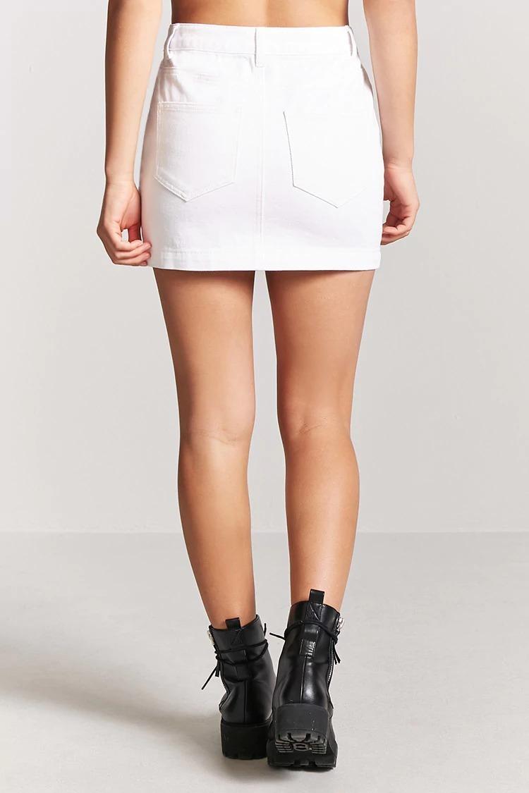 forever 21 falda blanca de mezclilla algodon corta 27 s-m. Cargando zoom. 7f7aa93e1f8