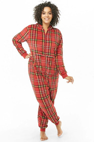 8280c5dc0 Forever 21 Plus Size Mameluco Jumpsuit Pijama Calientito Xl