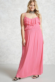 9a519ee59 Forever 21 Plus Size Maxi Vestido Rosa Fiesta Cocktail 0xl