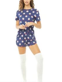 1e595ca4e4 Forever 21 Set Pijama De Gatos Navideños Navidad