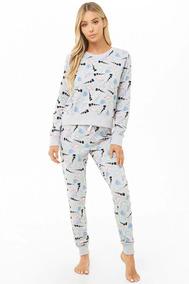 e549f77a5c Forever 21 Set Pijama Pantalon Y Playera Gris Dinosaurios Xs