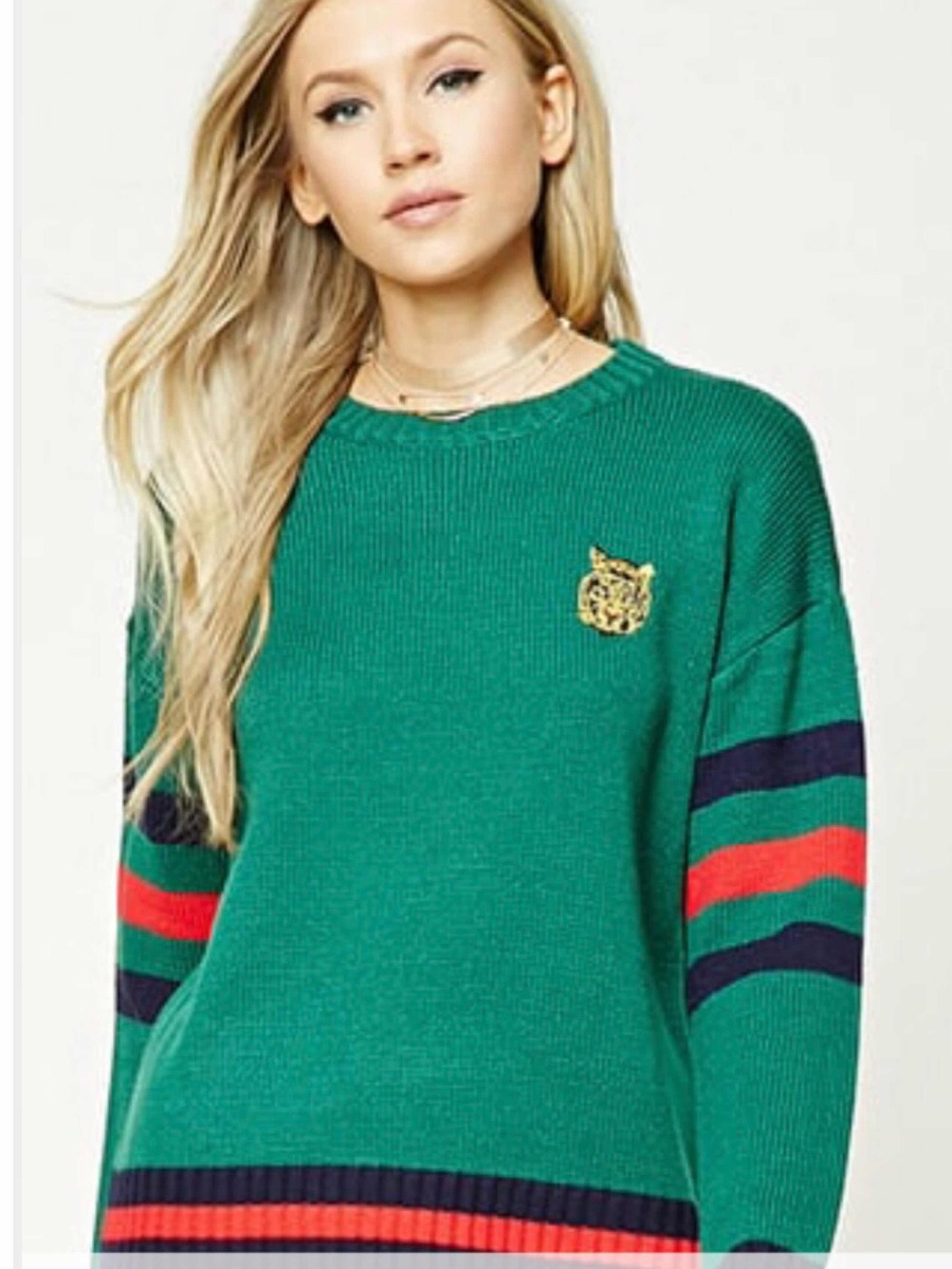 Forever 21 Ugly Sweater Forever21 Suéter Dama Colores Gucci