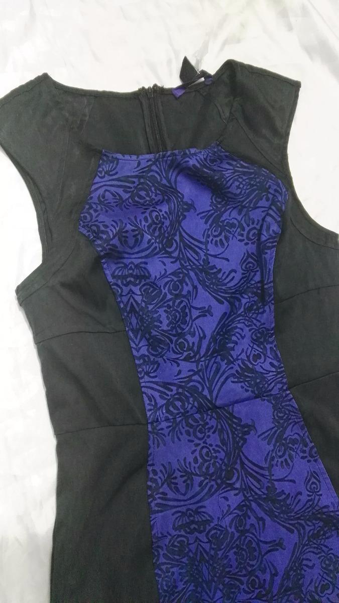 Forever 21 Vestido Azul Con Negro Oficina - $ 160.00 en Mercado Libre