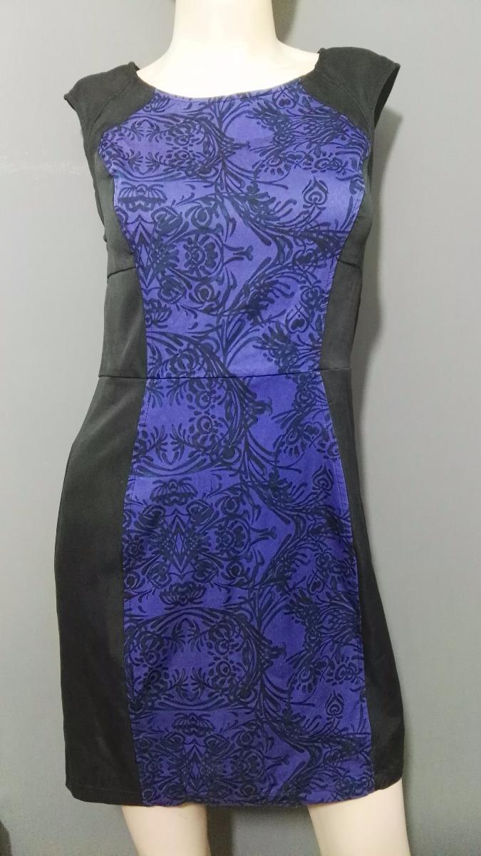 Forever 21 Vestido Azul Con Negro Oficina 16000