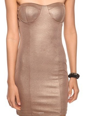 forever 21 - vestido bronze com bojo - lindo!!!