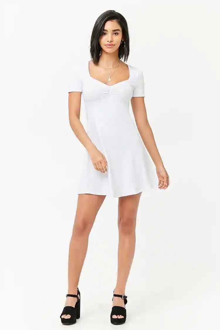 Vestido Blanco Forever 21vestidos Con Saco Para Fiestamini