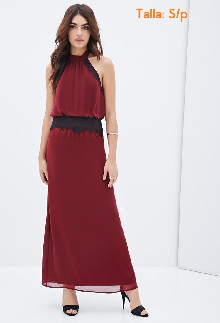 Forever 21 Vestido Vino Talla Sp Casuales Cortos Modernos