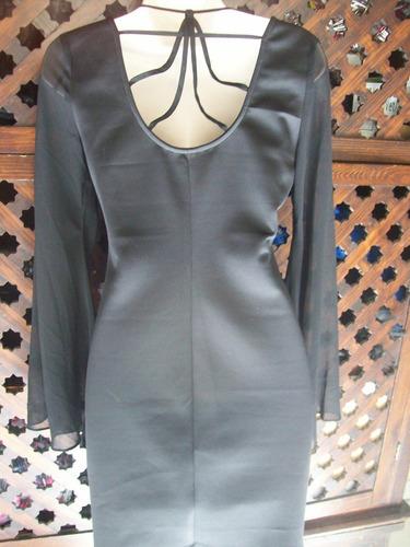 forever every 1 vestido negro mini mangas largas talla ch
