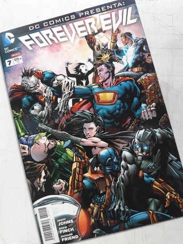 forever evil, lote 7 comics, serie completa, televisa
