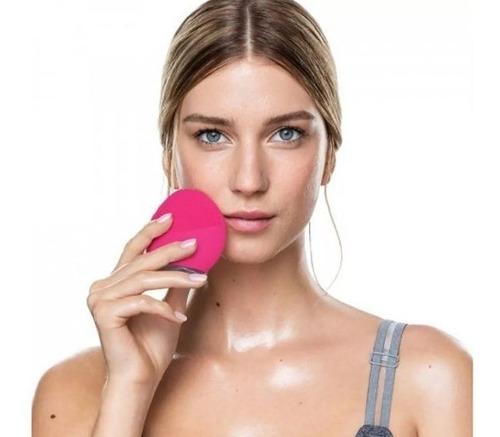 forever lina mini 2 rosa claro - escova de limpeza facial
