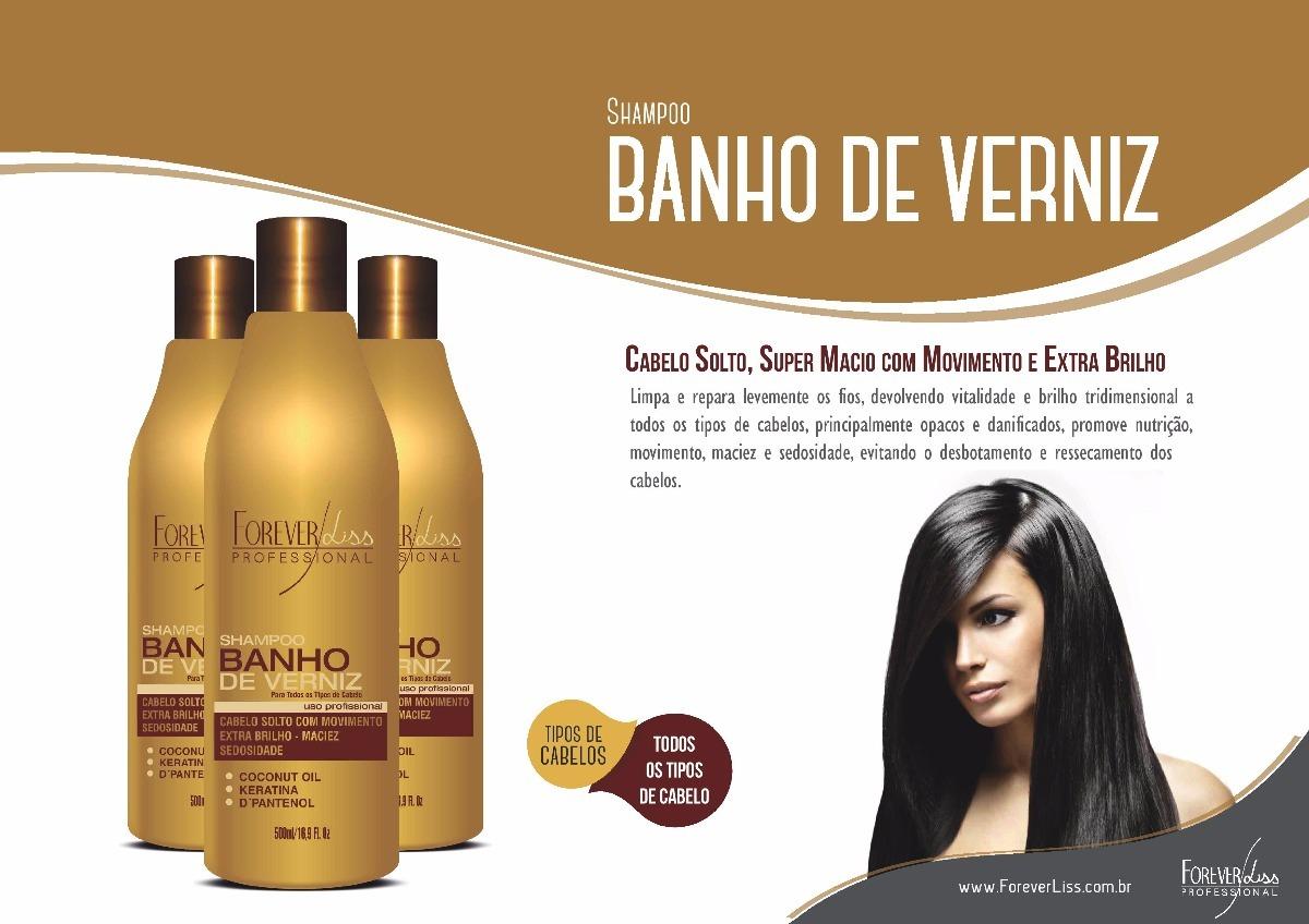 Forever Liss Kit Banho Verniz Máscara 1kg + Shampoo 500ml - R$ 90 ...