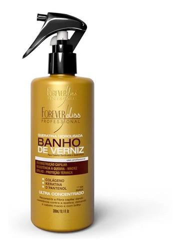 forever liss kit shamp+levein+queratina+ banho de verniz 1kg