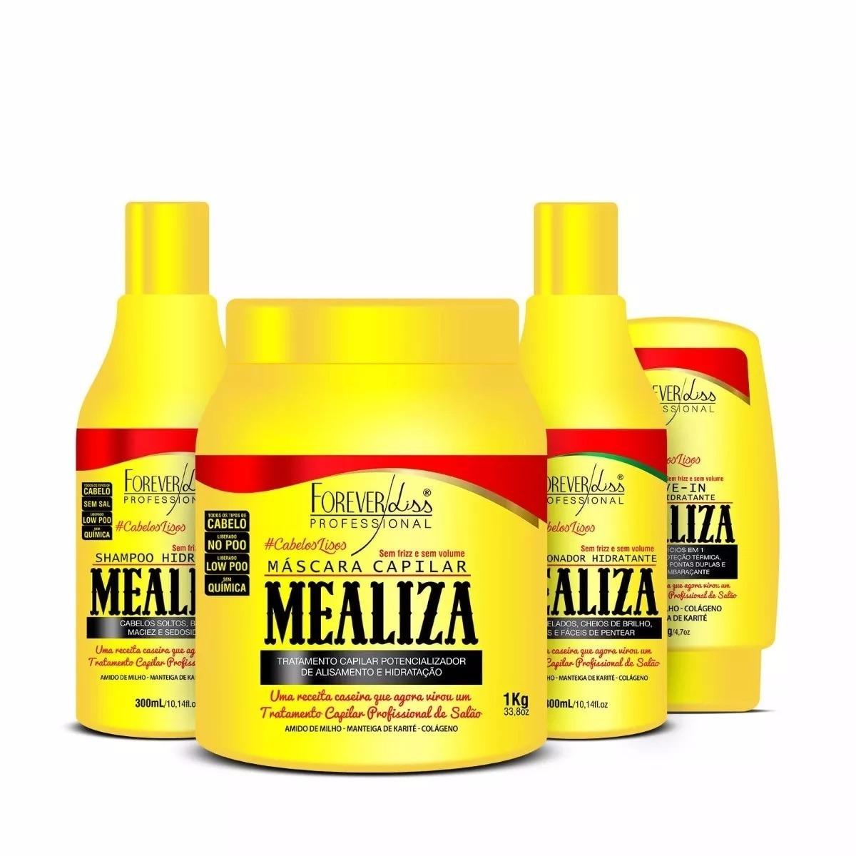 753531d01 Forever Liss Mealiza Kit Anti Frizz E Volume Capilar - R$ 150,00 em ...