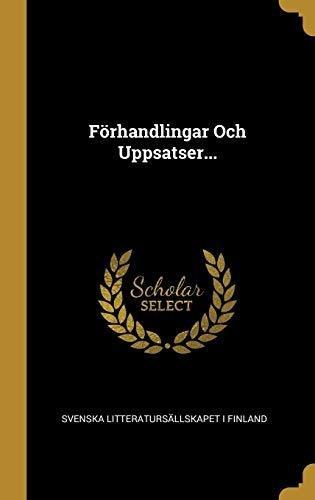 förhandlingar och uppsatser... : svenska litteratursallska