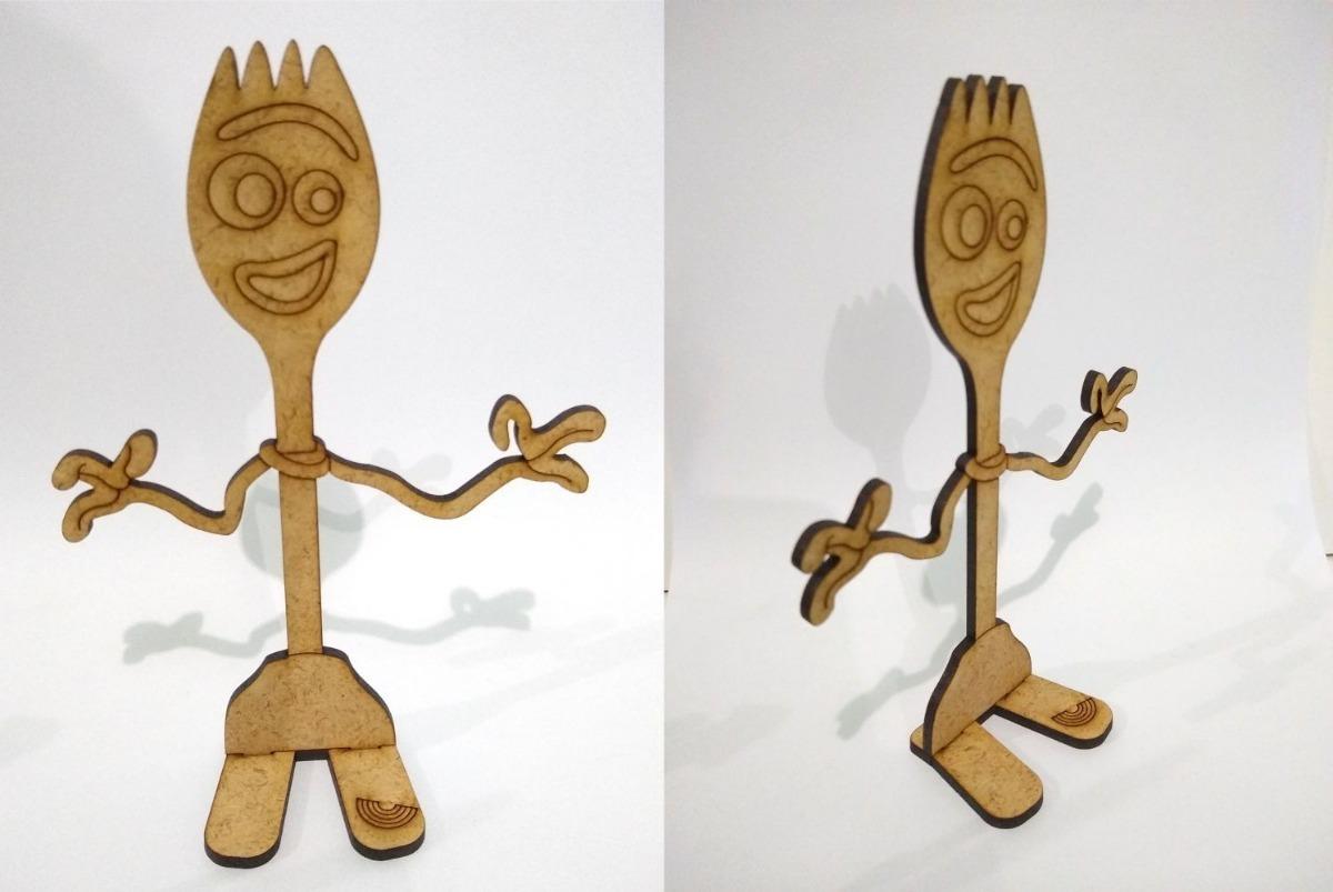 Forky Fibrofacil Toy Story 4 10 Unid Souvenir Para Pintar