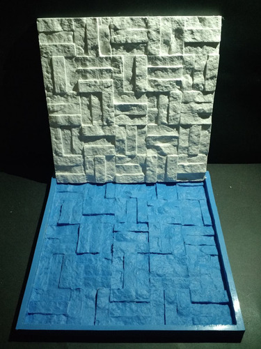 forma 100 % silicone mosaico 3d gesso retalhos 30x30 cm