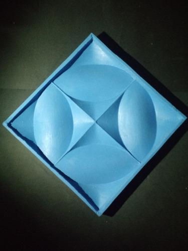 forma 100% silicone mosaico gesso 3d floral 30 x 30 cm